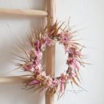 couronne de fleurs séchées chipie choc création