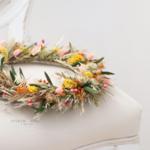 couonne de fleurs séchées - chipie choc création