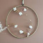 couronne minimaliste fleurs stabilisées - chipie choc création