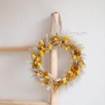 couronne de fleurs séchées - chipie choc création