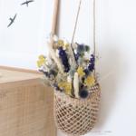 bouquet de fleurs séchées bleues chipie choc création