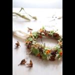couronne de fleurs séchées automnale chipie choc création