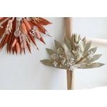 feuille de palme séchée fleurie