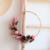demi couronne de fleurs séchées rose et pourpre - chipie choc création