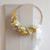 Demi couronne de fleurs séchées jaune et blanche - chipie choc création
