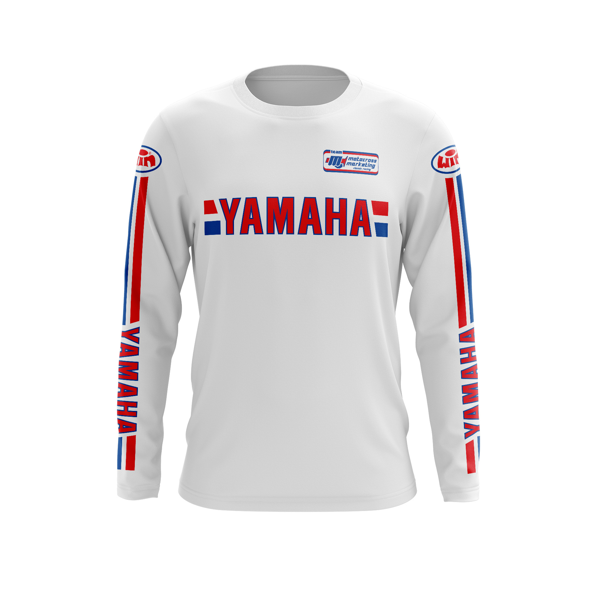 Maillot Trial YAMAHA Blanc BBR Face