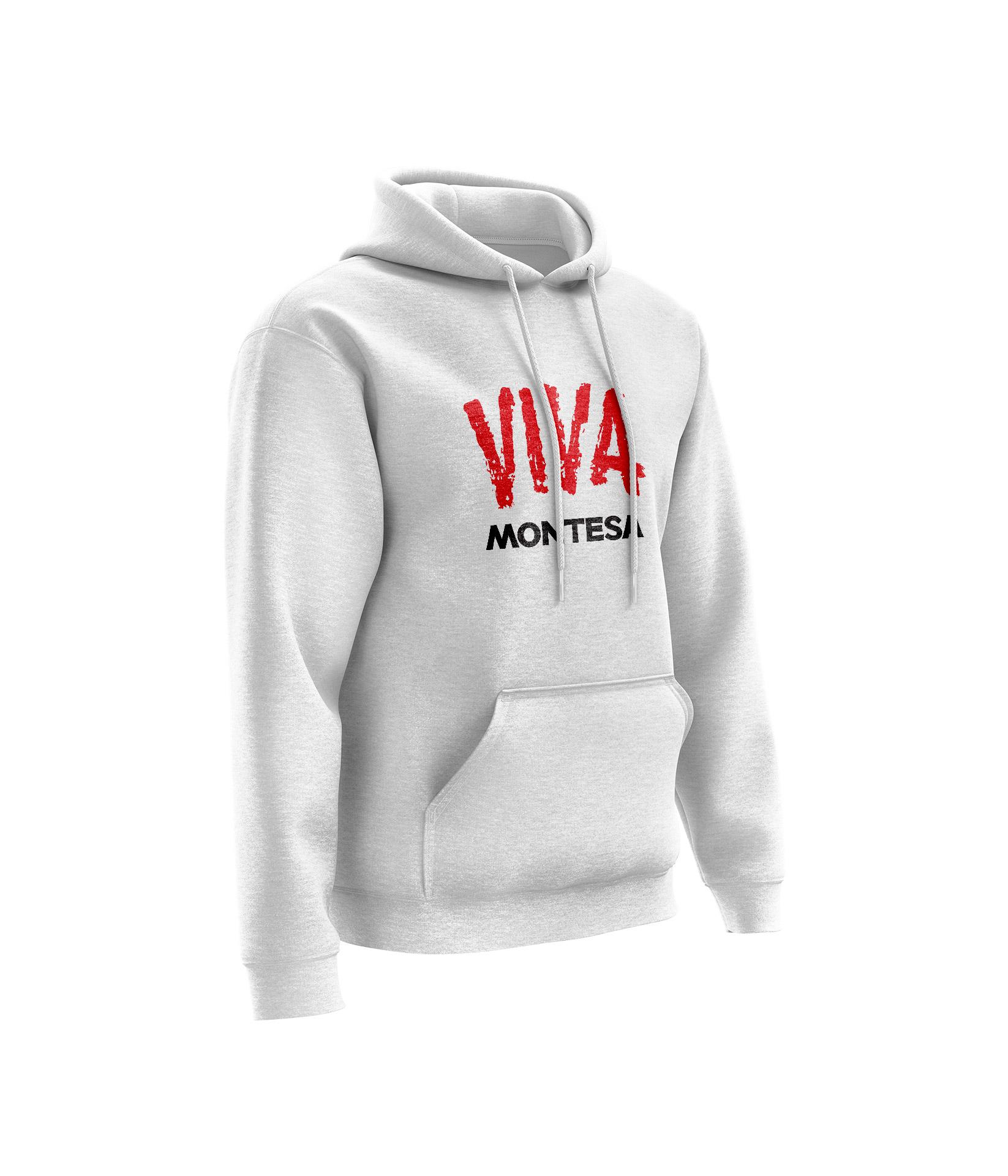 Sweat MONTESA Viva Blanc Chiné - Rouge Noir