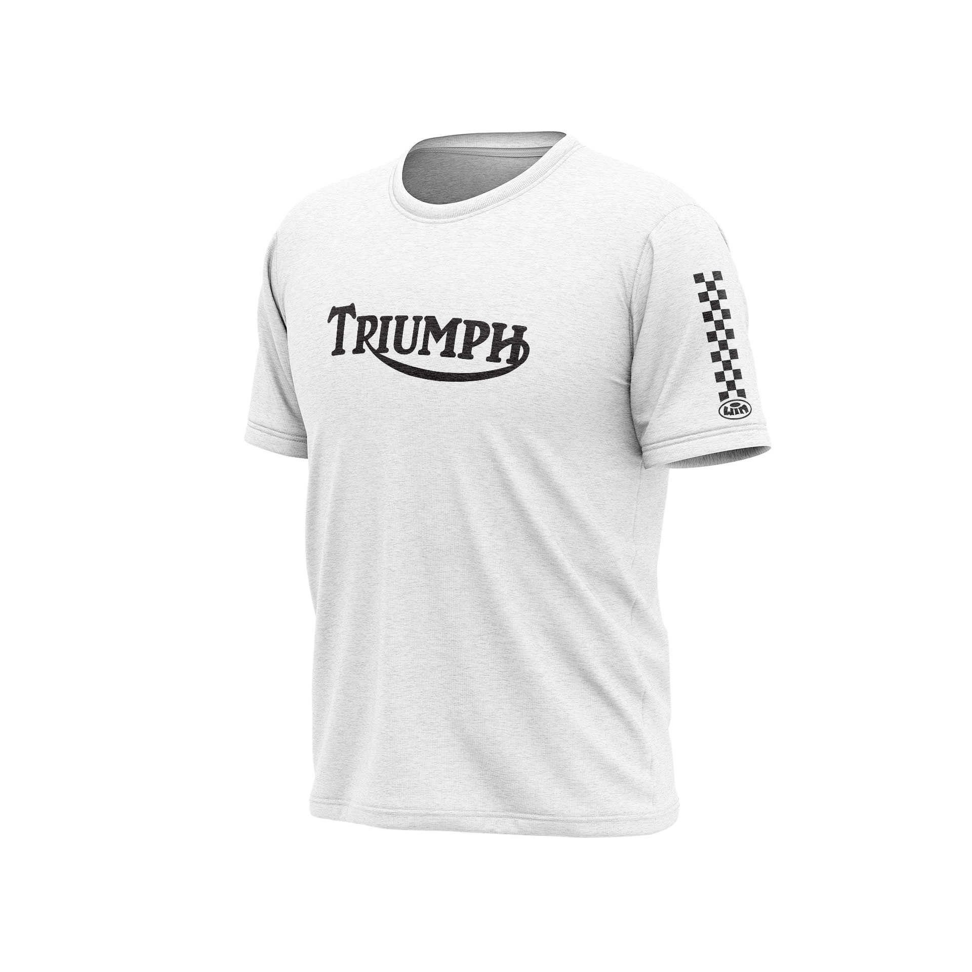 TS Chest TRIUMPH Blanc Chiné - Noir