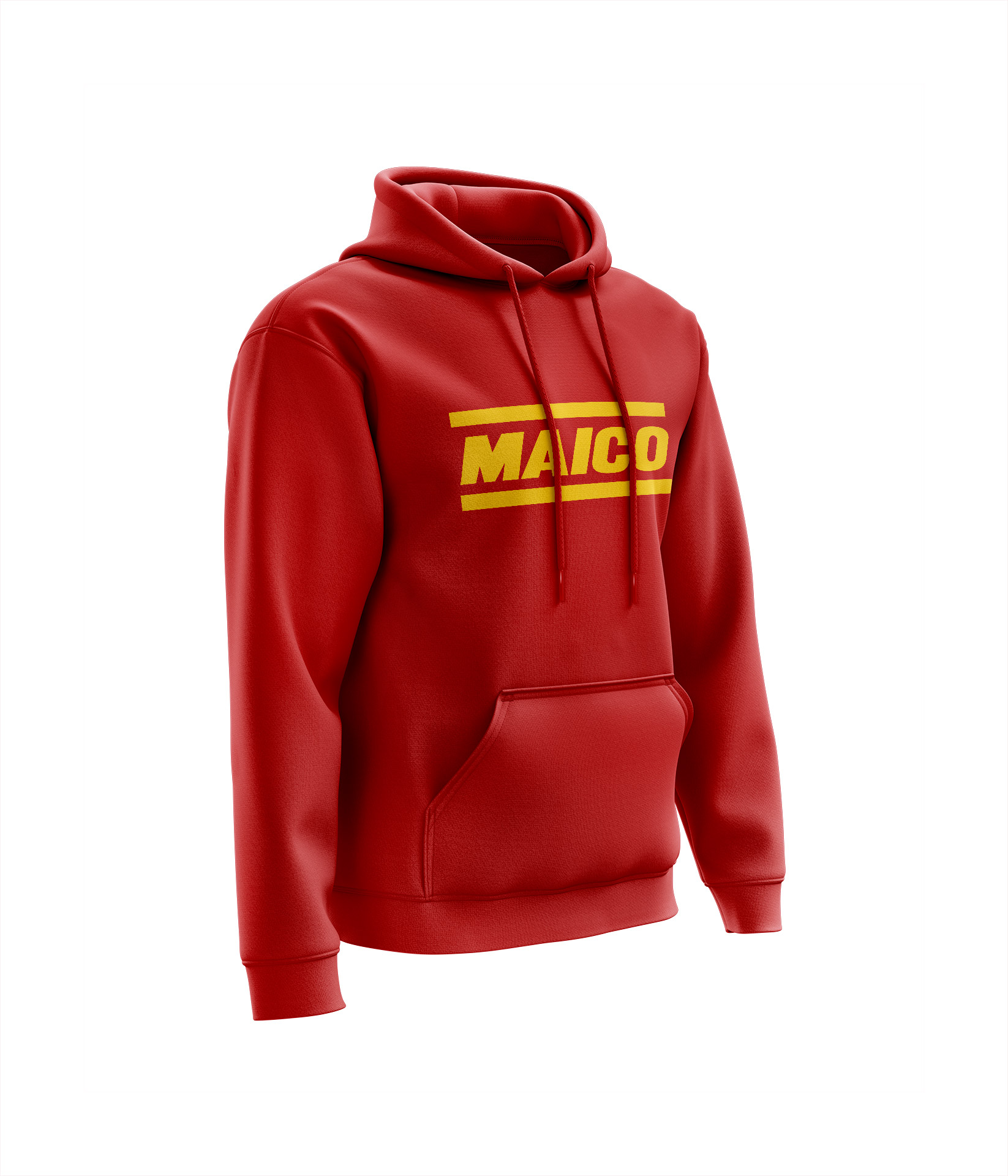 Sweat MAICO Chest Rouge - Jaune
