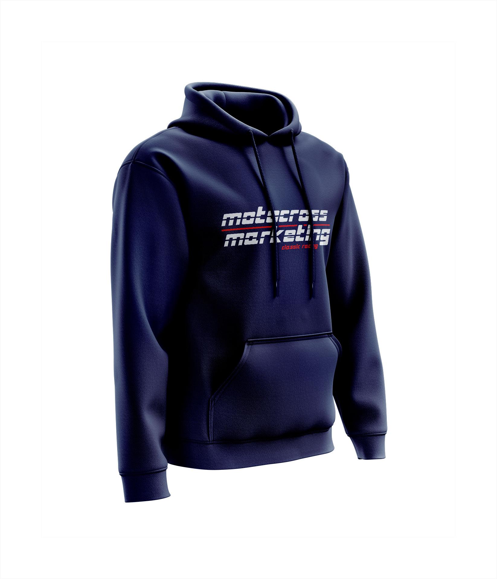 Sweat MXM Team Chest Marine - Blanc Rouge