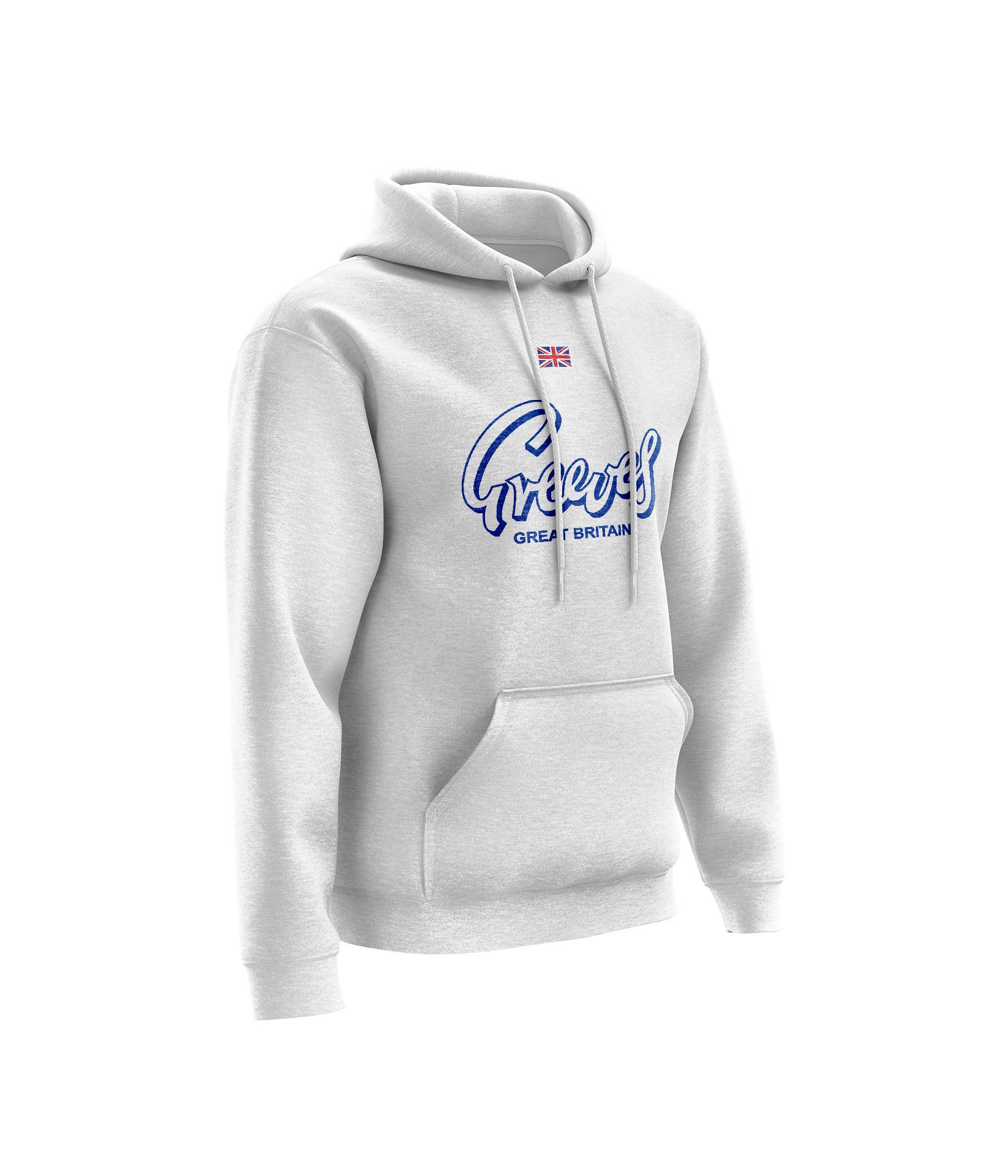 Sweat CHEST GREEVES Blanc Chiné - Bleu