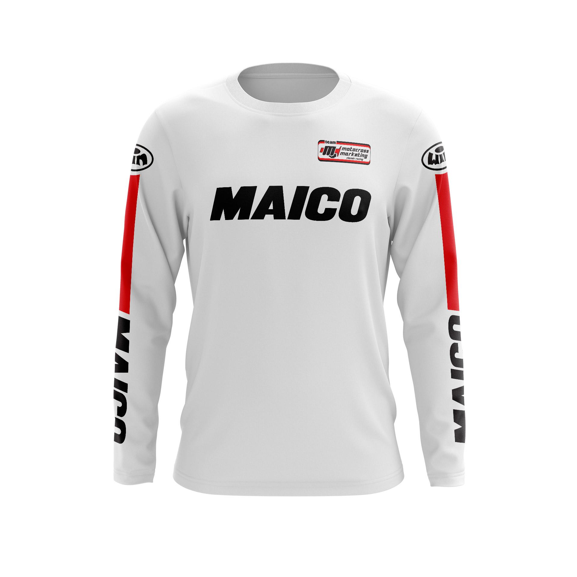 Maillot G MAICO Blanc Noir Face