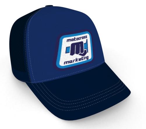 MXM Classic embroidered trucker cap - Blue Blue