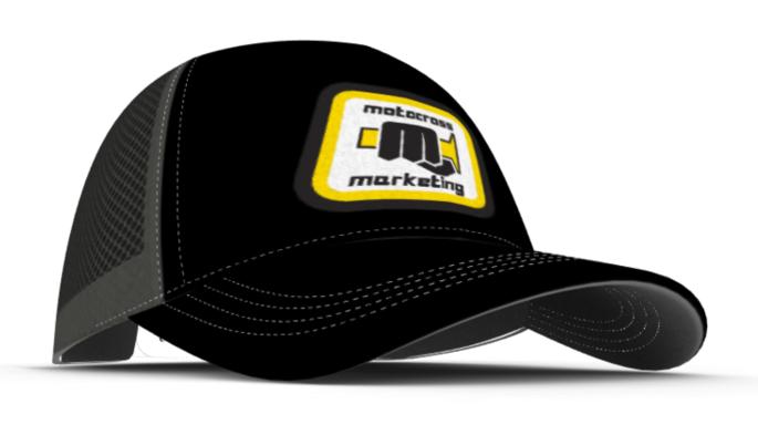 MXM Classic embroidered trucker cap  - Black Yellow