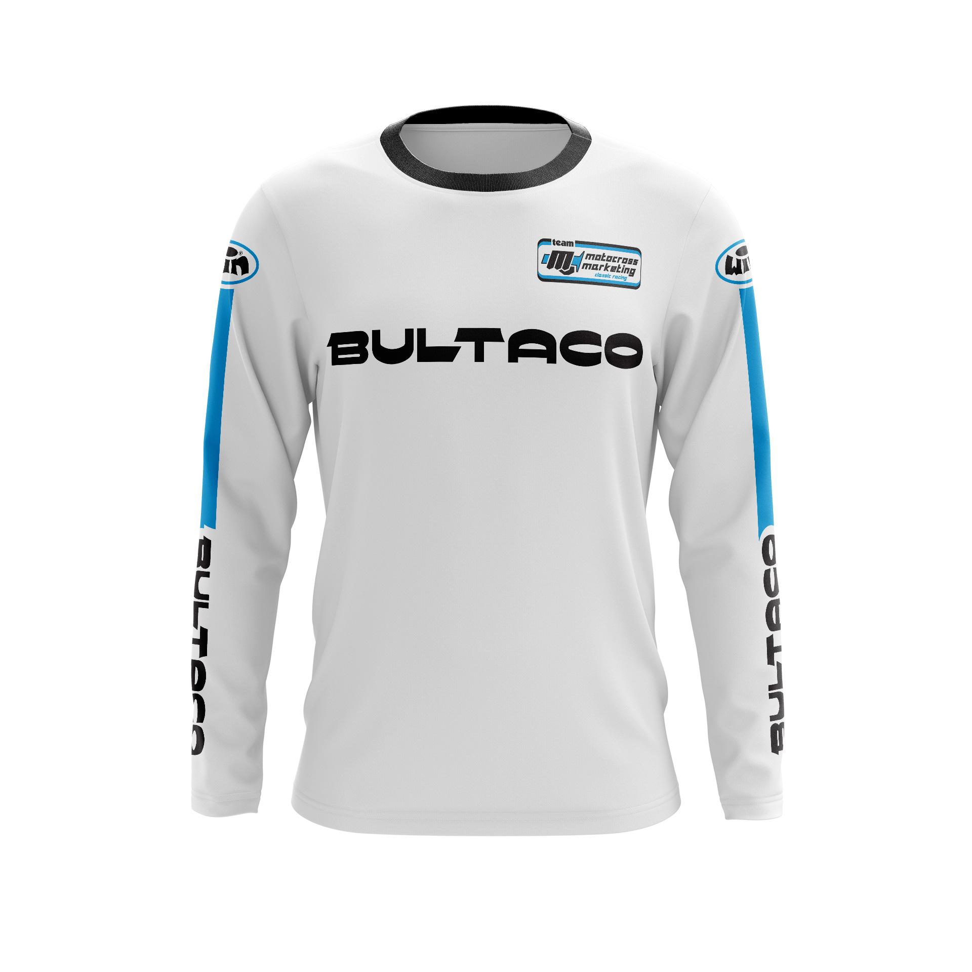Maillot BULTACO Blanc Hi Face