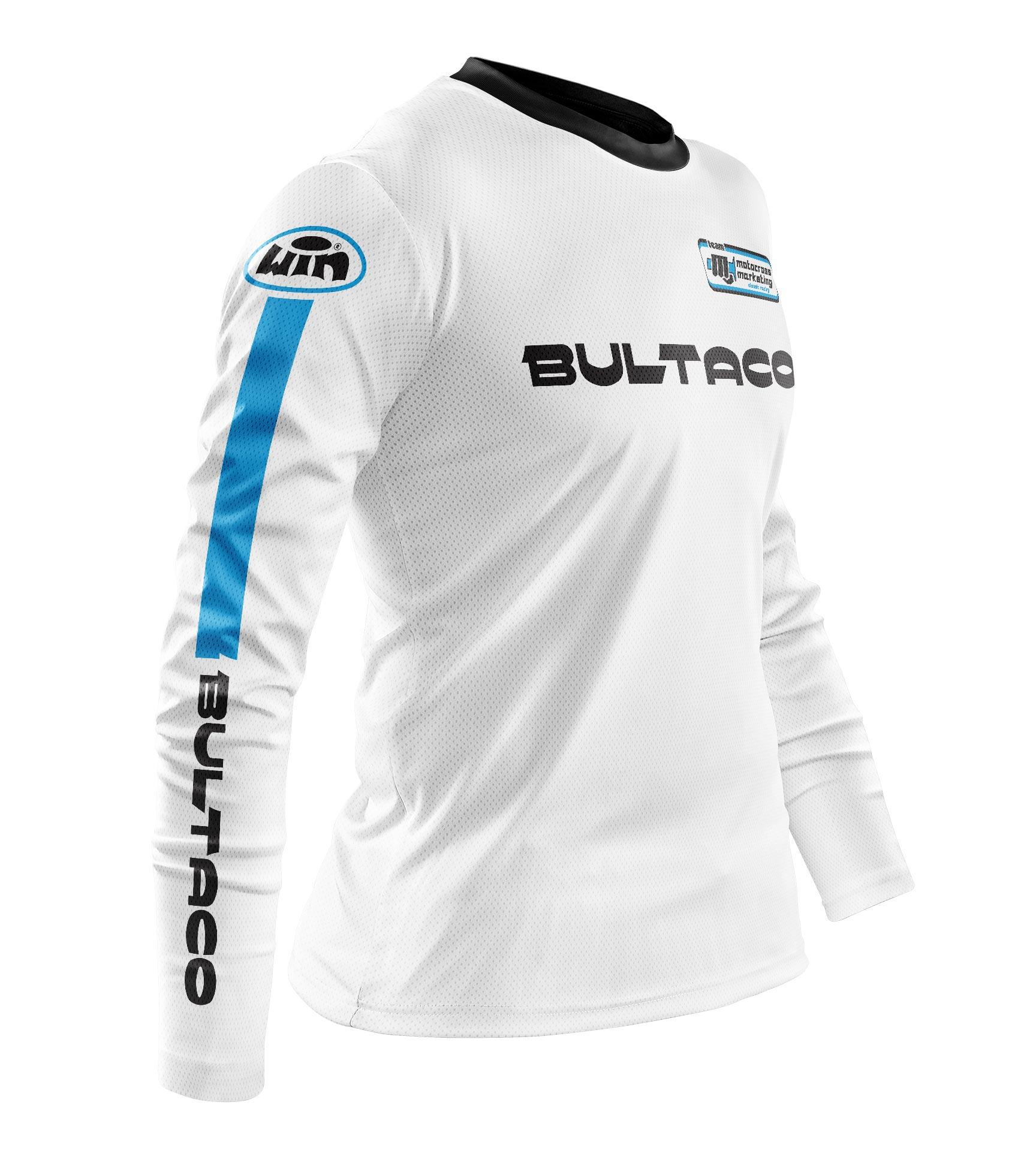 Maillot BULTACO Aéré Blanc Hi Profil