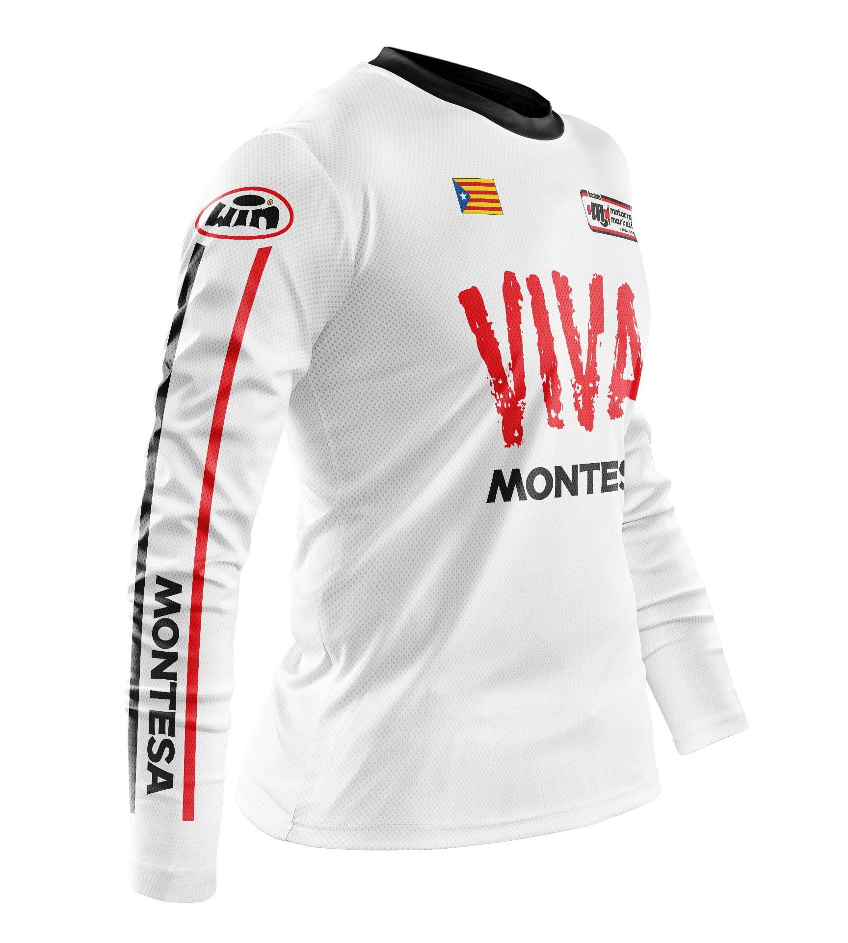 Maillot MONTESA Aéré Blanc Hi Profil