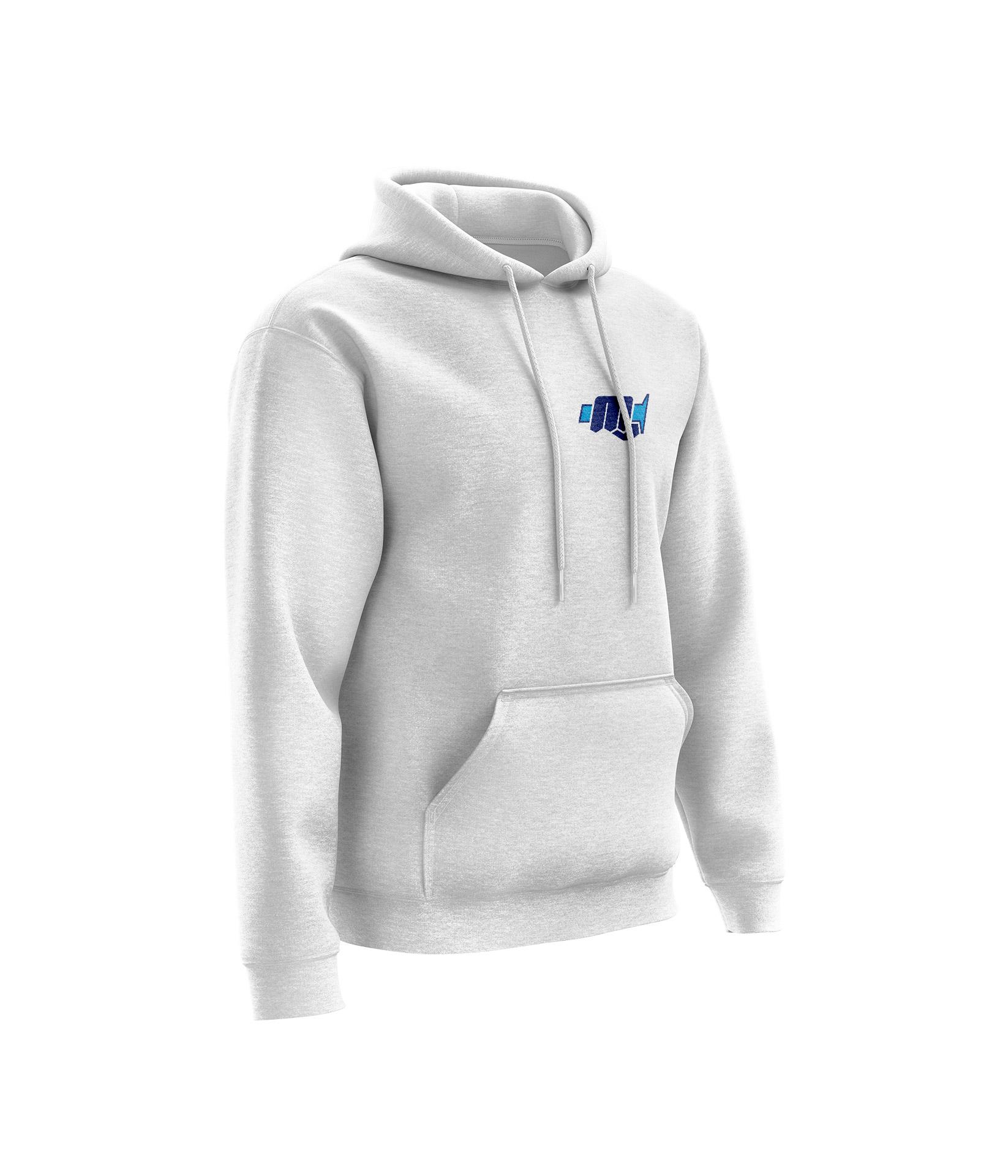 Sweat MXM Blanc Chiné - Bleu Bleu