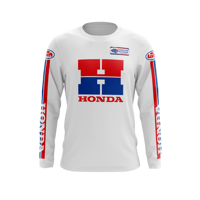 HONDA H White - Red Blue