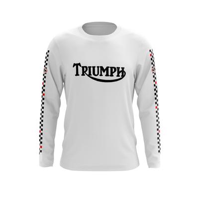 TRIUMPH White - Black Red