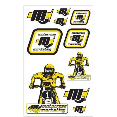 10 Stickers MXM Black / Yellow