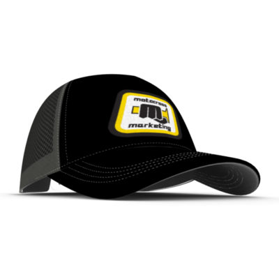 MXM Classic embroidered trucker cap  - Black Yellow