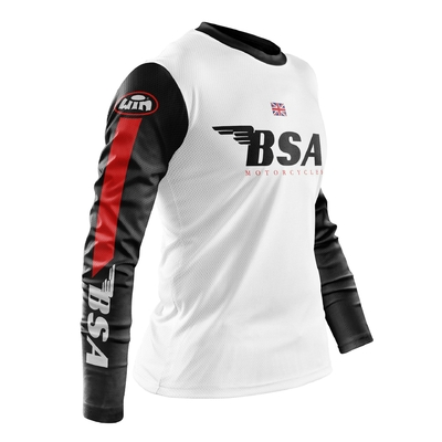 BSA White Black - Red