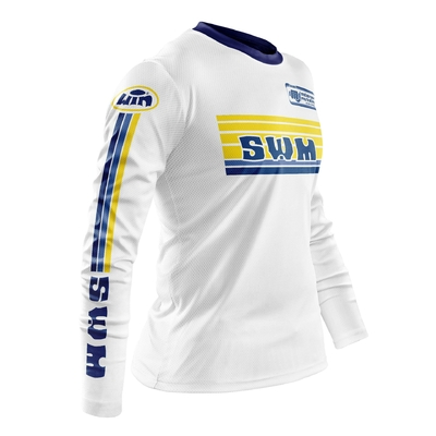 SWM White Fra - Yellow Blue