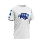 TShirt MXM Stripes Blanc Bleu 3 Quarts
