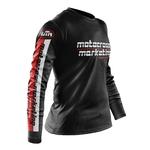 Maillot MXM Aéré Team Noir Blanc Rouge Profil
