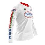 Maillot SWM Aéré Blanc Italia Profil