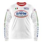 Maillot SWM Aéré Blanc Italia Face