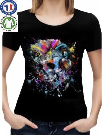 T-shirt Coton Bio Skull Color