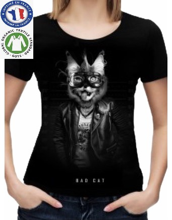 T-shirt Coton Bio Bad Cat
