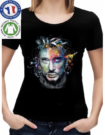 T-Shirt Coton Bio Johnny Hallyday Color