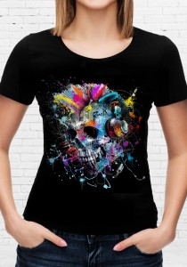 T-shirt Skull Color
