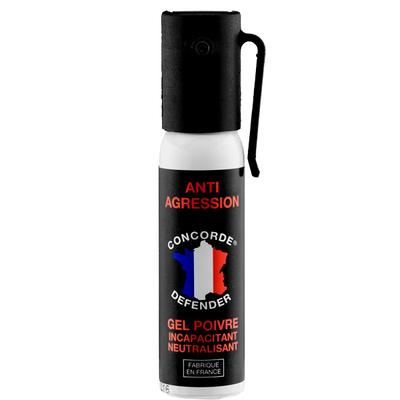 Bombe lacrymogène de poche 25 ml gel poivre