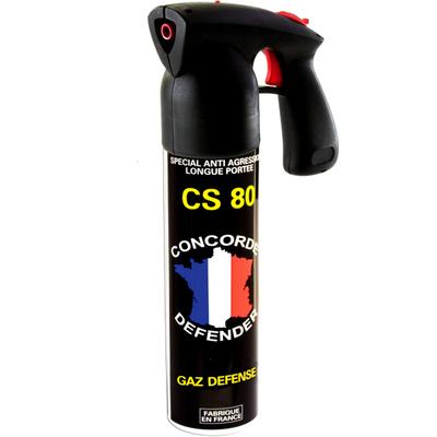 Bombe lacrymogène gaz cs 300 ml longue portée