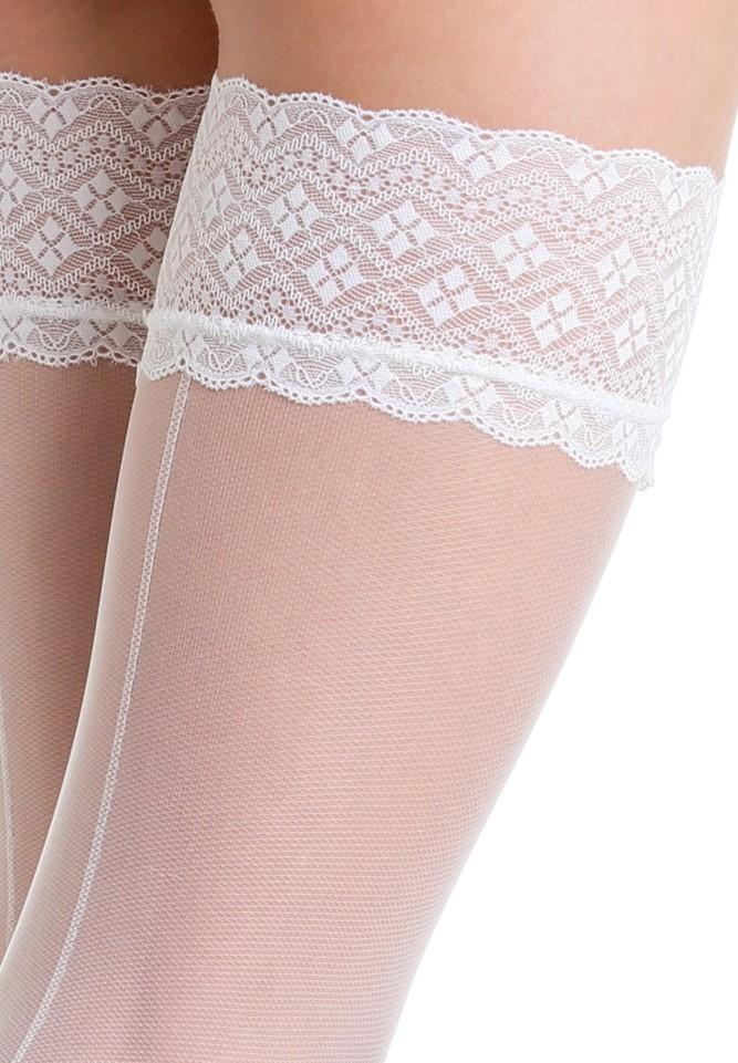 bas up blanc avec ligne couture 30 deniers