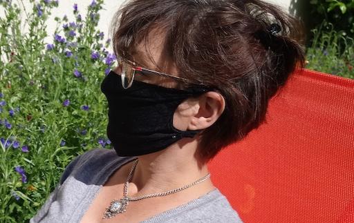 Masque barrière microfibre noir