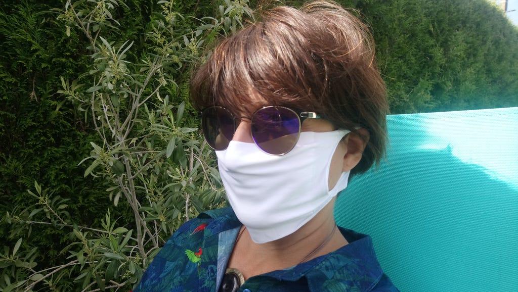 Masque barrière microfibre blanc