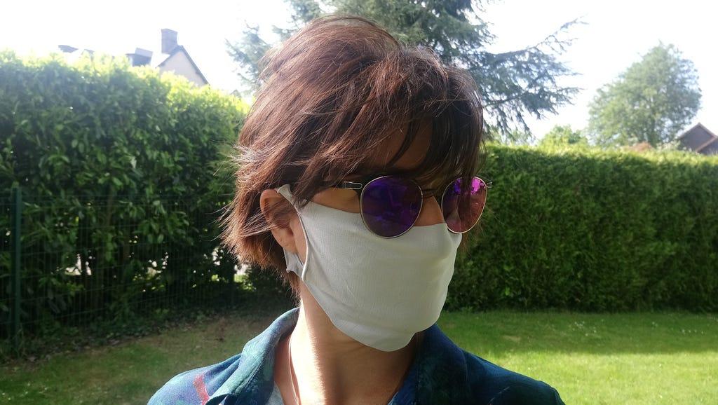 Masque barrière microfibre gris