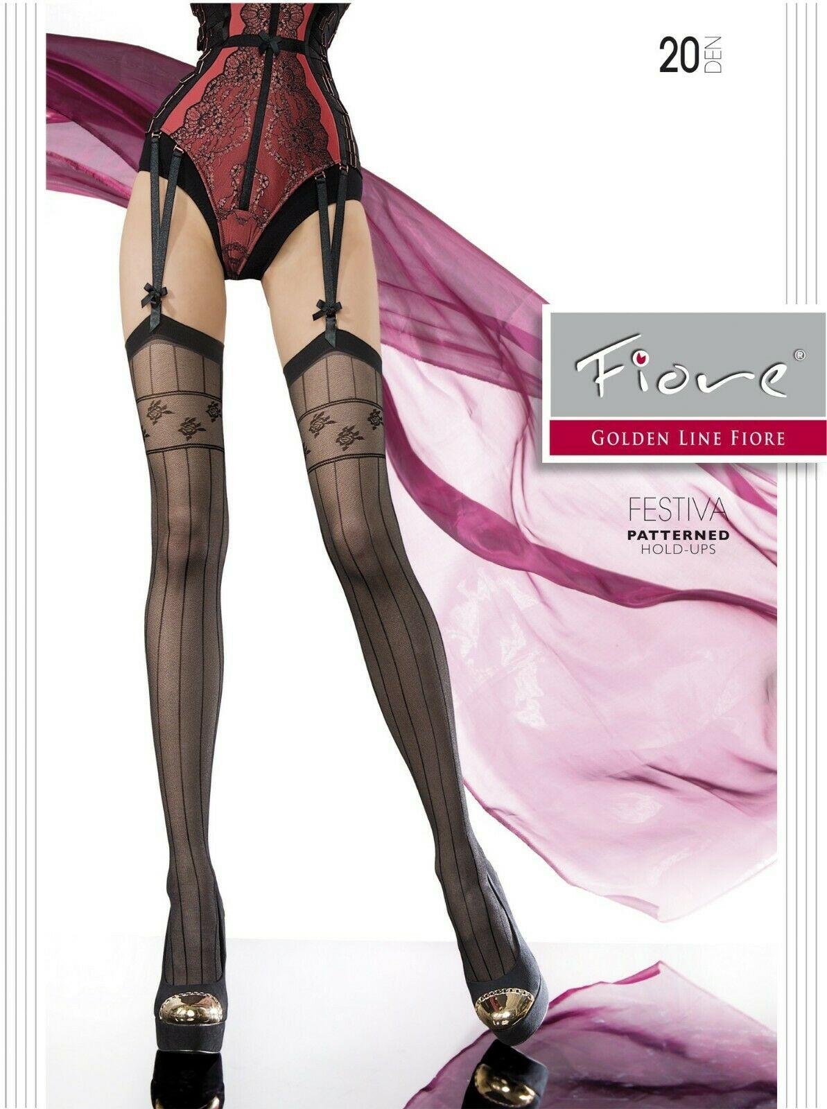 Bas jarretelles sexy et glamour, avec motifs le longs des jambes