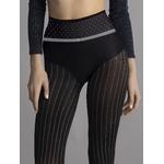 Son design est une combinaison de points au niveau de la ceinture et de fines bandes verticales grises sur les jambes
