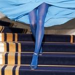 collant brillant bleu épais fiore glossy blue 60 deniers