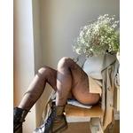 collant fiore simonetta fantaisie noir nylon