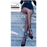 collant P615 resille noir avec ouverture à lentre jambe misso lingerie