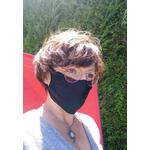 masque barriere microfibre noir