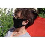 masque barriere noir en microfibre