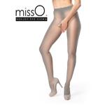 collant ouvert gris sexy misso lingerie